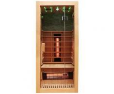 Dewello Infrarotkabine Milton Vollspektrum, für 1 Person beige Infrarotkabinen Sauna Bad Sanitär