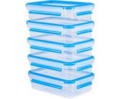 Emsa Frischhaltedose Clip & Close, (Set, 10 tlg., 5 Vorratsdosen mit jeweils einem Deckel), 100% dicht, Made in Germany farblos Aufbewahrung Küchenhelfer Haushaltswaren