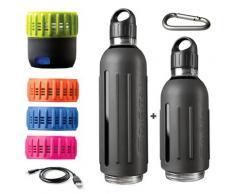 SDIGITAL Trinkflasche Spritz - Marathon Kit grau Aufbewahrung Küchenhelfer Haushaltswaren Trinkflaschen