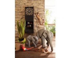 Home affaire Dekofigur Elefant grau Gartenfiguren Gartendekoration Gartenmöbel Gartendeko Dekofiguren