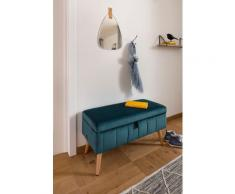 my home Truhenbank Amira, mit Staufach, in 3 Bezugsqualitäten blau Truhenbänke Sitzbänke Stühle