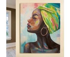 GILDE Leinwandbild Gemälde Makeda bunt Leinwandbilder Bilder Bilderrahmen Wohnaccessoires