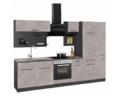 HELD MÖBEL Küchenzeile Tulsa EEK B grau Küchenzeilen mit Geräten -blöcke Küchenmöbel Arbeitsmöbel-Sets
