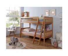 Ticaa Etagenbett Erni, mit Rollrost wahlweise Matratze, Buche beige Betten Möbel Aufbauservice