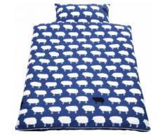 Babybettwäsche Happy Sheep Pinolino, blau, blau
