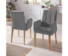 INOSIGN Armlehnstuhl Claudia, (1 Stück) Rückenlehne mit Steppung grau 4-Fuß-Stühle Stühle Sitzbänke