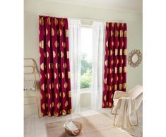 my home Verdunkelungsvorhang Kreise, Foliendruck rot Wohnzimmergardinen Gardinen nach Räumen Vorhänge