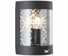 Brilliant Leuchten Lison Außenwandleuchte Bewegungsmelder schwarz, schwarz, schwarz