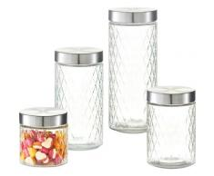 Zeller Present Vorratsglas Raute, (Set, 4 tlg.) farblos Aufbewahrung Küchenhelfer Haushaltswaren