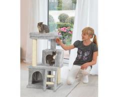 ABUKI Kratzbaum Jola, hoch, BxTxH: 50x52x90 cm grau Kratz- Kletterbäume Katze Tierbedarf
