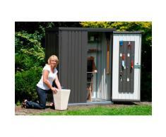 Biohort Geräteschrank grau Geräteschuppen -schränke Garten Balkon
