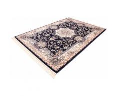 Böing Carpet Teppich Classic 4051, rechteckig, 10 mm Höhe, Orient-Optik, mit Fransen, Wohnzimmer blau Esszimmerteppiche Teppiche nach Räumen