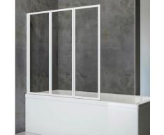 Schulte Badewannenaufsatz Komfort, BxH: 127 x 120 cm, zum Kleben oder Bohren weiß Duschwände Duschen Bad Sanitär