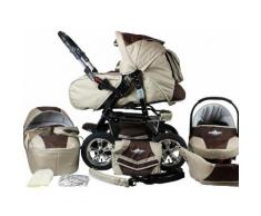 bergsteiger Kombi-Kinderwagen Milano, coffee & brown, 3in1, 15 kg, Made in Europe braun Kinder Kombikinderwagen Kinderwagen Buggies