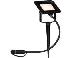 Paulmann LED Gartenstrahler Plug & Shine Erdspieß Flood IP65 6,8W 3.000K Schwarz, 1 St., Warmweiß schwarz LED-Lampen LED-Leuchten Lampen Leuchten sofort lieferbar