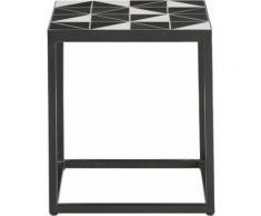 INOSIGN Beistelltisch Steph, schwarz, schwarz/weiß