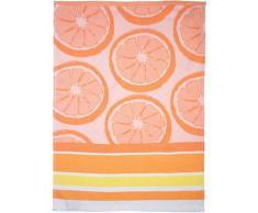 stuco Geschirrtuch Summer Fruits Orange, (Set, 3 tlg., 1x mit Früchte-Motiv, passend dazu 2 weitere Geschirrtücher in Streifenoptik), Jacquardgewebe orange Küchenhelfer Haushaltswaren