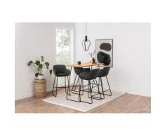 andas Barhocker Lene (Set, 2 Stück) grau 4-Fuß-Stühle Stühle Sitzbänke Hocker