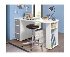 Schreibtisch Yoris, mit 3 Schubkästen und seitlichen Fächern weiß Schreibtische Bürotische Büromöbel
