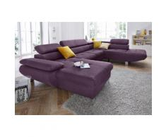 exxpo - sofa fashion Wohnlandschaft, lila, hortensie