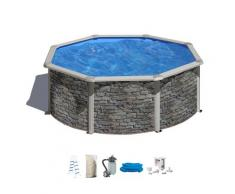 MyPool Rundpool (Set) grau Swimmingpools Pools Planschbecken Garten Balkon