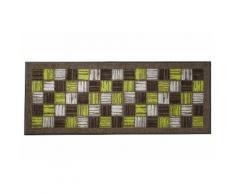 Fußmatte PreisstarPINSELSTRI waschbar braun Fußmatten gemustert
