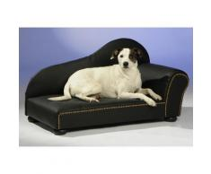 SILVIO design Tiersofa Lederoptik schwarz Hundebetten -decken Hund Tierbedarf