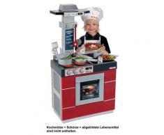 Klein Kinderküche MIELE Spielküche, grau, rot-grau