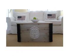 Uncle Joe´s Truhentisch Coffee Works grau Holz-Beistelltische Holztische Tische Tisch
