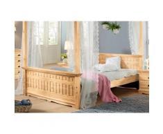 Home affaire Massivholzbett Claudia beige Doppelbetten Betten