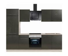 OPTIFIT »Bern« Küchenzeile ohne E-Geräte, Breite 270 cm, natur, lava Lack-akazie