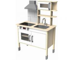Eichhorn Spielküche Holz, beige, natur-weiß-grau