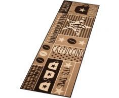 Küchenläufer, Coffee Break, Zala Living, rechteckig, Höhe 8 mm, maschinell getuftet braun Küchenläufer Läufer Bettumrandungen Teppiche
