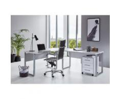 BMG Büro-Set Tabor Office 0 (Set, 2-tlg) grau Arbeitszimmer Büro Made in Germany - Möbel Arbeitsmöbel-Sets