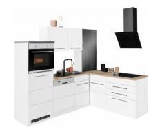HELD MÖBEL Winkelküche Trient, mit E-Geräten, Stellbreite 230/190 cm EEK B weiß Küchenzeilen Geräten -blöcke Küchenmöbel Arbeitsmöbel-Sets