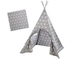 roba Spielzelt LITTLE STARS, 115 X cm, Höhe von 156 cm grau Kinder Spieltunnel Outdoor-Spielzeug