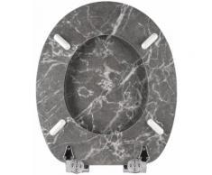 SANILO WC-Sitz Marmor, mit Absenkautomatik grau WC-Sitze WC Bad Sanitär