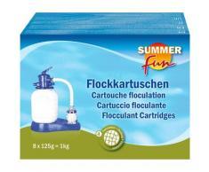 SUMMER FUN Poolpflege Flockungskissen, 8 x 125 g weiß Poolzubehör -reinigung Pools Planschbecken Garten Balkon
