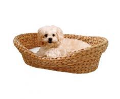 SILVIO design Tierkorb Wasserhyazinthe, BxTxH: 72x 56x17 cm, natur braun Hundebetten -decken Hund Tierbedarf