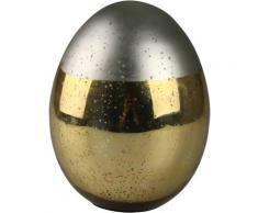 AM Design Osterei, aus Glas, in matter und glänzender Optik silberfarben Osterdeko Vorfreude Ostern Dekofiguren