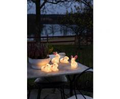 KONSTSMIDE LED Acryl Hasen, 5er-Set farblos Deko, Figuren Skulpturen SOFORT LIEFERBARE Wohnaccessoires Dekoleuchten