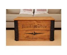 Uncle Joe´s Truhentisch Pearl Harbor braun Holz-Beistelltische Holztische Tische Tisch