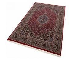 Orientteppich, Benares Bidjar, THEKO, rechteckig, Höhe 12 mm, manuell geknüpft rot Schurwollteppiche Naturteppiche Teppiche