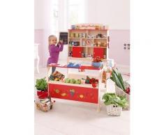 Sun Kaufladen, aus Holz mit Kreidetafel beige Kinder Ab 3-5 Jahren Altersempfehlung Kaufladen