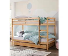 Lüttenhütt Etagenbett Alpi, aus schönem massivem Kiefernholz, Stockbett, Liegeflächenlänge 200 cm beige Kinder Kindermöbel Nachhaltige Möbel