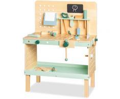 Pinolino Werkbank Jupp, FSC-Holz aus gewissenhaft bewirtschafteten Wäldern beige Kinder Holzspielzeug