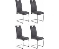 HELA Stuhl Barbara, 2 oder 4 Stück schwarz Freischwinger Stühle Sitzbänke