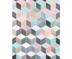 Komar Vlies Fototapete Cubes Pastel 200/250 cm, bunt, bunt