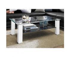 PRO Line Couchtisch weiß Couchtische eckig Tische Tisch