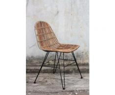 SIT Rattanstuhl Vintage braun 4-Fuß-Stühle Stühle Sitzbänke
